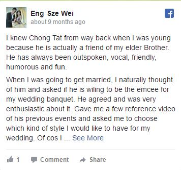 wedding emcee testimonial 6